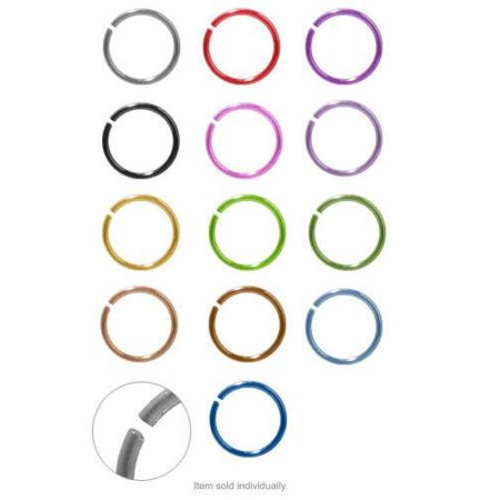 Ear Nose ring Hoop Jewelry Anodized Titanium 20g (0.8mm) 5/16