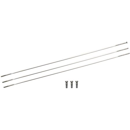 - Zipp Straight Pull Spokes and Nipples, CXRay 246mm Silver, 3-pack