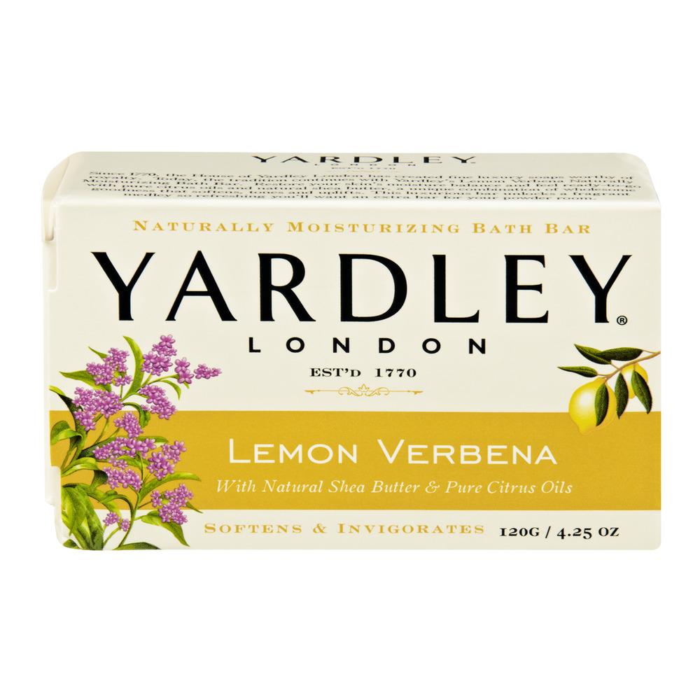 Yardley London Lemon Verbena Naturally Moisturizing Bath Bar, 4.25 OZ