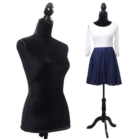 - Costway Black Female Mannequin Torso Dress Form Display W/ Black Tripod Stand