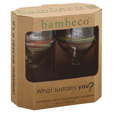 Bambeco Glass Wine Rainbow (6x2pack) - Rainbow Glasses