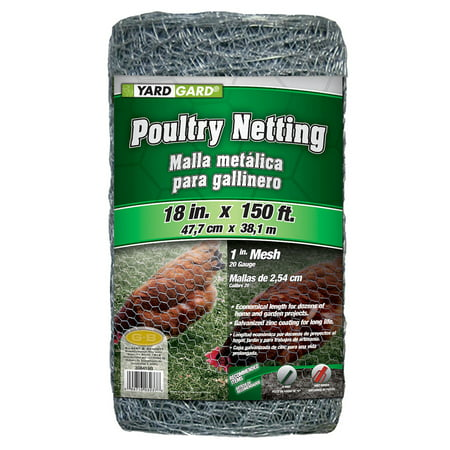 150 Denier Mesh (YARDGARD 1.5 Foot X 150 foot 1 Inch Mesh Poultry Netting )