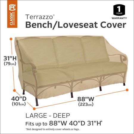 Classic Accessories Terrazzo Deep Seated Patio Loveseat Cover - All Weather Protection Outdoor Furniture Cover, Large (55-901-042001-EC) - image 3 de 4