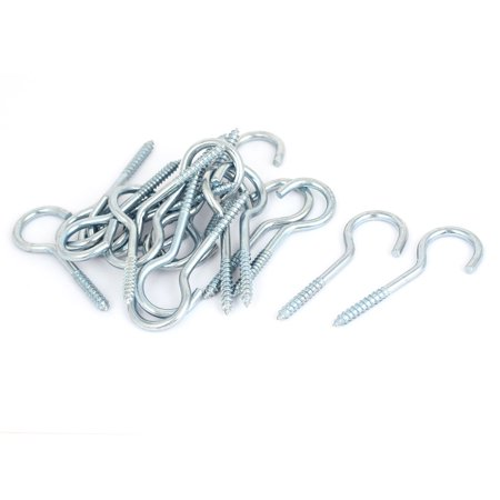 Zinc Eye Slip Hook (Uxcell Garden Vine Wire Zinc Plated Screw Eye Hook Eyebolt Eyelet Bolt 20pcs)
