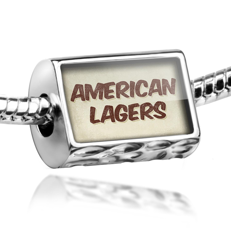Bead American Lagers Beer, Vintage style Charm Fits All European Bracelets