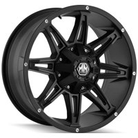 "18"" Inch Mayhem 8090 Rampage 18x9 8x180 -12mm Matte Black Wheel Rim"