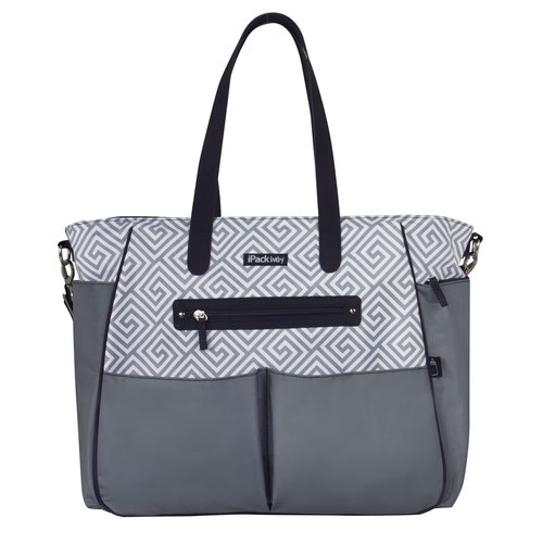 iPack Baby Diaper Bag Purse, Gray
