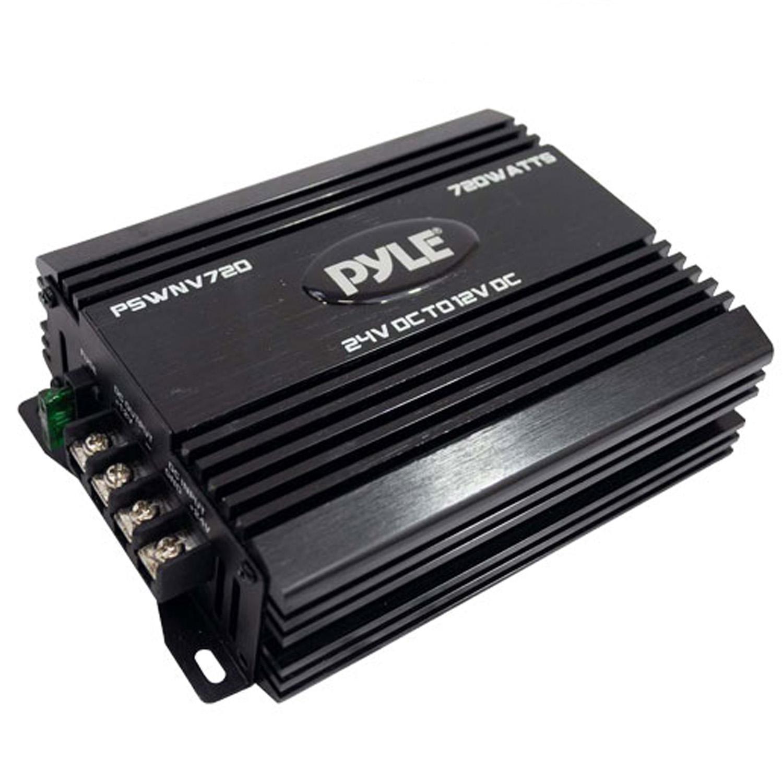 Pyle 24V DC to 12V DC Power Step Down 720 Watt Converter W/ PMW Technology