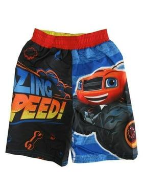 5942da93df Product Image Nickelodeon Little Boys Black Blaze Monster Truck UPF 50+ Swim  Shorts