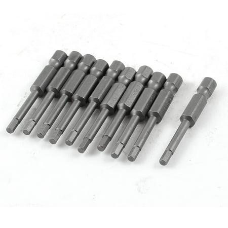 Unique Bargains 10 Pcs 3mm Magnetic Tip 50mm Length Magnetic Hex Hexagon Screwdriver Bits