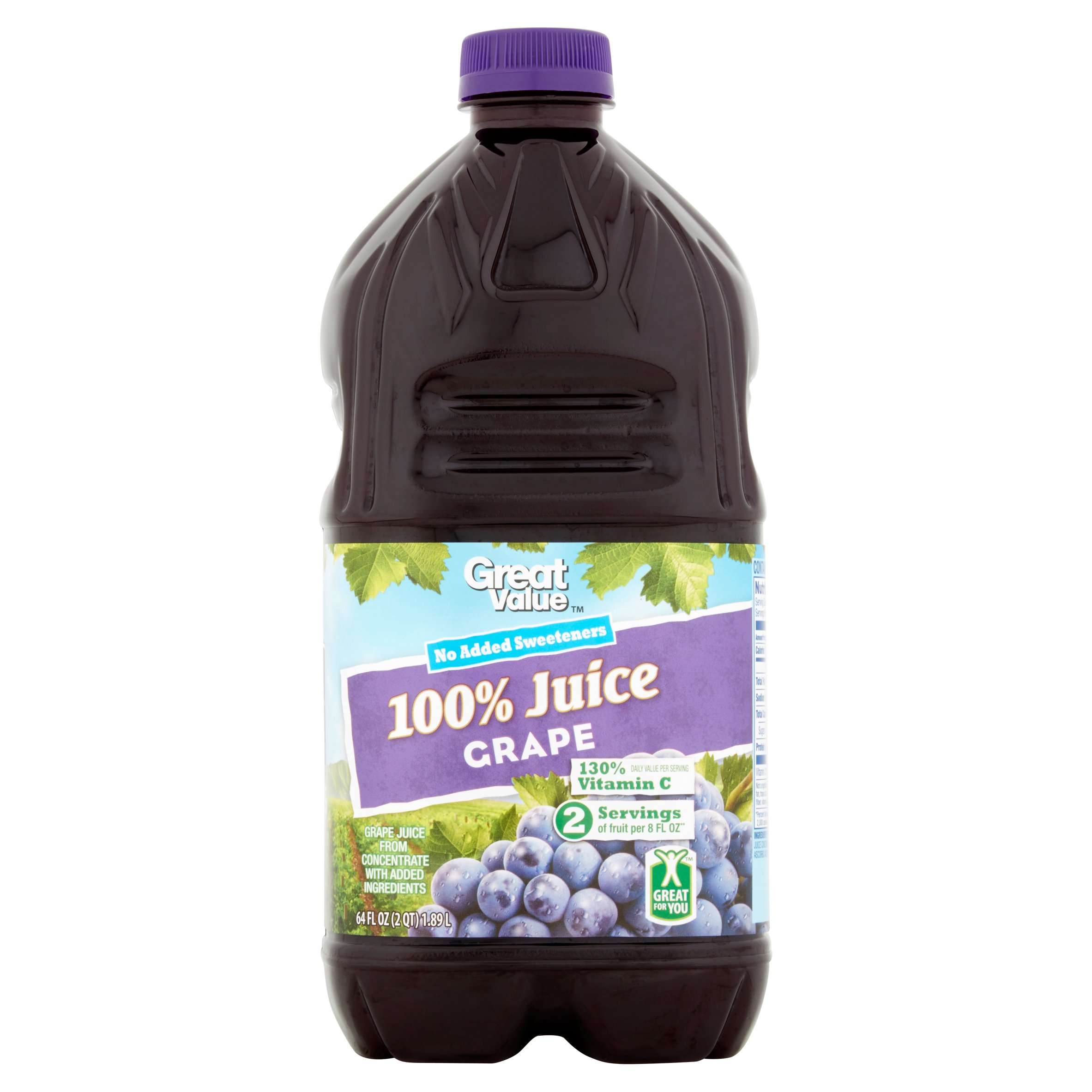 Great Value 100% Grape Juice, 64 Fl Oz by Wal-Mart Stores, Inc.