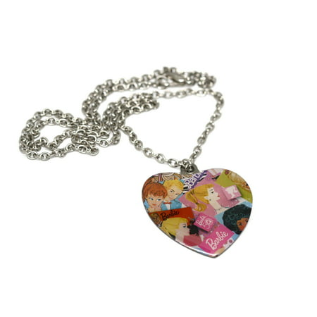 BRACCIALE MATTEL CLASSIC VINTAGE BARBIE KEN HEART TAG CHAIN FASHION NECKLACE