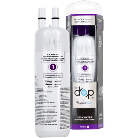 EDR1RXD1 , W10295370 , W10295370A EveryDrop by Whirlpool Refrigerator Water Filter 1 (Pack of 1) ()