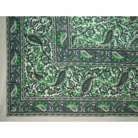 Jaipur Green - Jaipur Vine Paisley Tapestry Cotton Bedspread 106