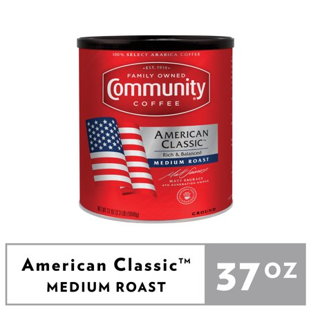 Community Coffee American Classic Medium Roast Ground Coffee 37oz Canister
