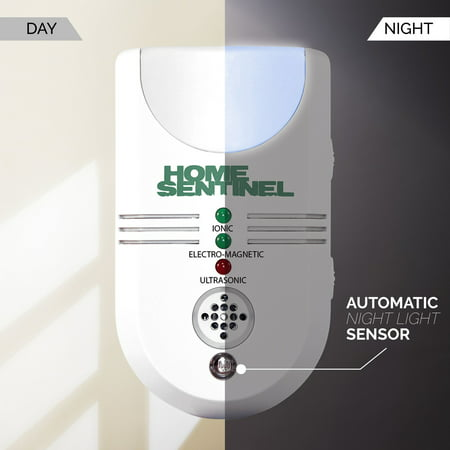 Pest Repellent with Ultrasonic, Electromagnetic, Ionizer & Auto Night Light **KEEP PESTS AWAY FROM HOME IN THE WINTER