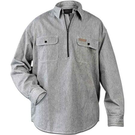 Hickory Shirt Co. Long Sleeve 1/2 Zip Shirt - Tall Length