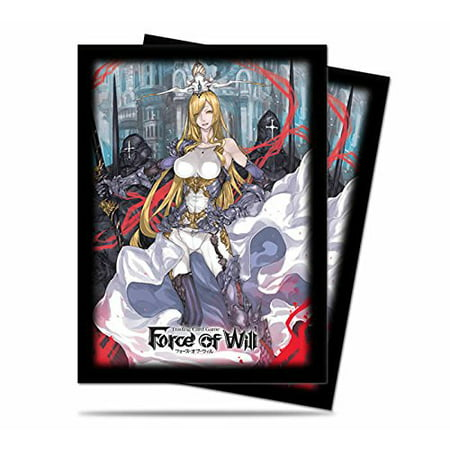 Ultra Pro Force Of Will Valentina Deck Protector Sleeves  Small  Black White