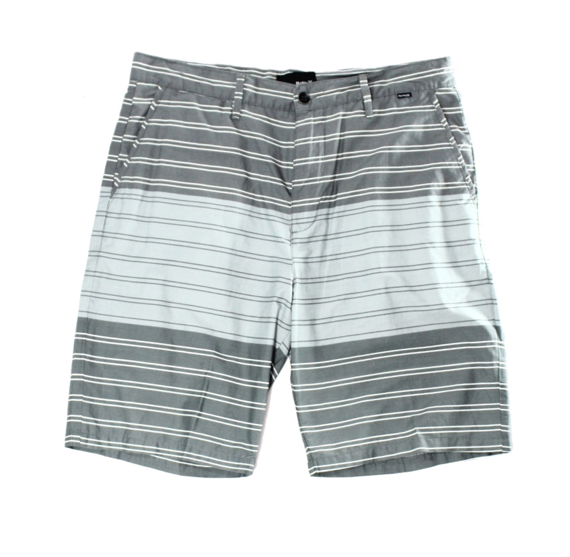 Hurley NEW Gray Mens Size 31 Casual Stripe Flat Front Shorts $49