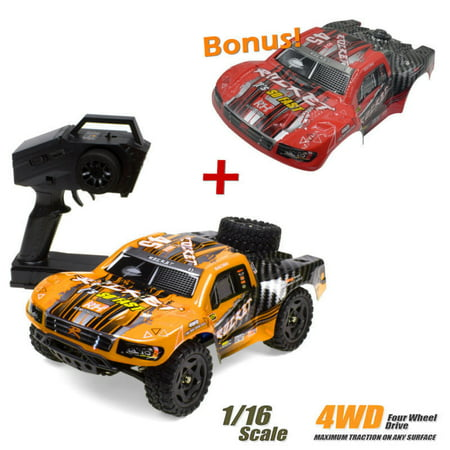 REMO 1621 RC Car 1/16 2.4G 4WD 50km/h Waterproof Brushed Short Course SUV