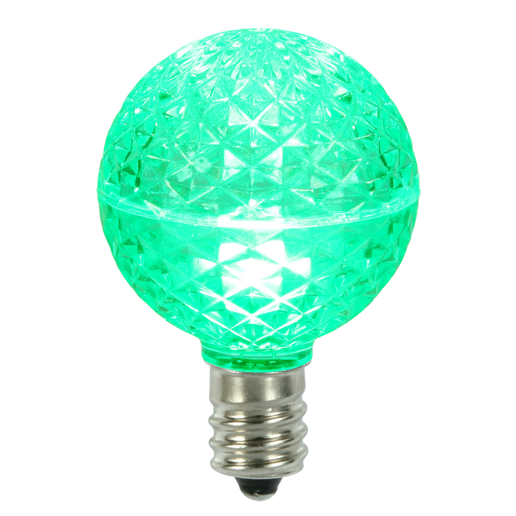 Vickerman G50 Faceted LED Green Replacement Bulb E17 .45W