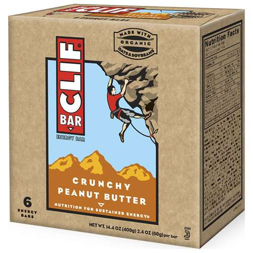 Clif Bar Crunchy Peanut Butter Energy Bar, 6ct