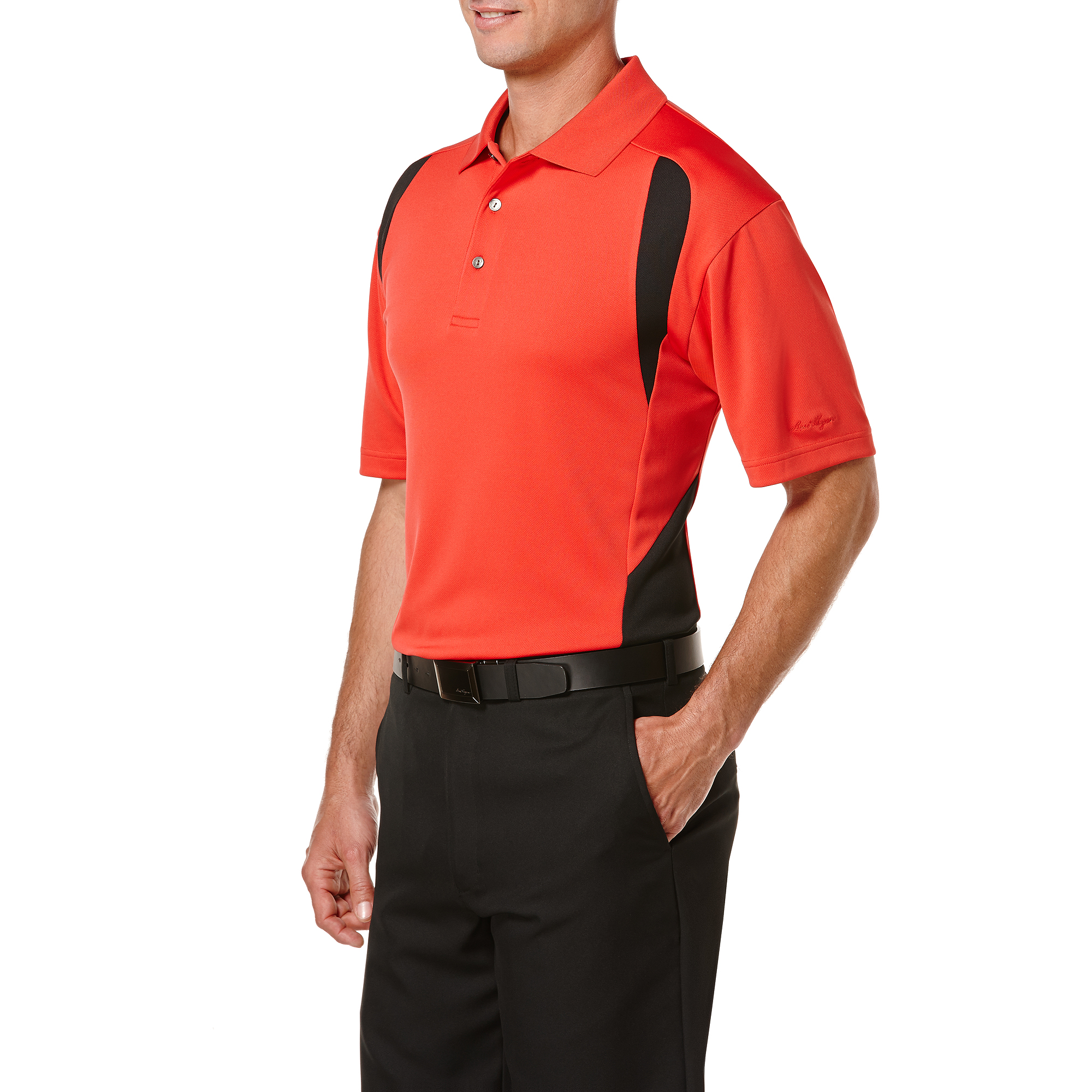 Ben Hogan Performance Big Men's Colorblock Short Sleeve Polo Shirt