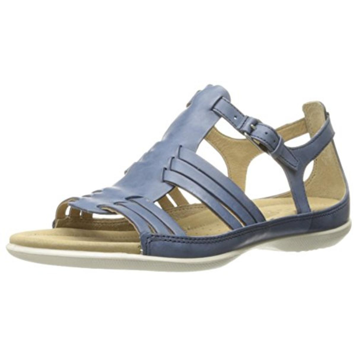 Ecco Womens Flash Leather Strappy Huarache Sandals