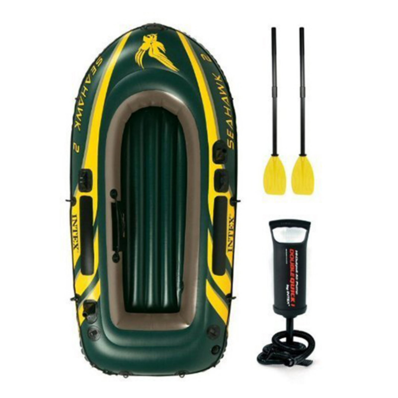 Intex Inflatable Seahawk 2 Two-Person Boat with Oars and Pump by Intex