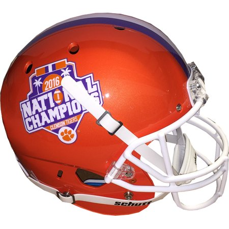 Clemson Tigers Schutt Full Size Replica Helmet 2016 National Champions Logos (on sides)