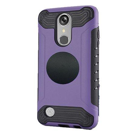 Phone Case For LG Rebel 2 (Straight Talk), LG Phoenix 3, LG Aristo (T-Mobile), Slim Armor Cover Case + Screen Protector + Universal Air Vent Car Mount Phone Holder (Purple) ()