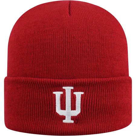 Indiana Pacers Cap - Men's Russell Crimson Indiana Hoosiers Team Cuffed Knit Hat - OSFA