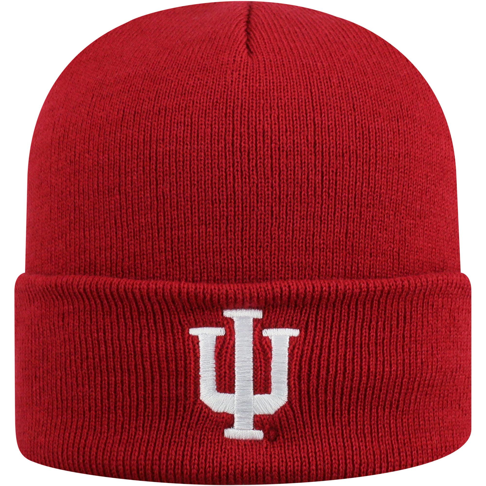 Men's Russell Crimson Indiana Hoosiers Team Cuffed Knit Hat - OSFA