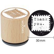 """Woodies Mounted Rubber Stamp 1.35""""-Thank You"""