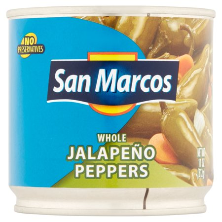 (6 Pack) San Marcos Whole Jalapeño Peppers, 11 Oz - City Of San Marcos Ca