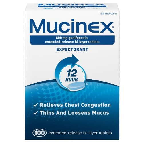 Mucinex 12-Hour Chest Congestion Expectorant Tablets, 100 Ct