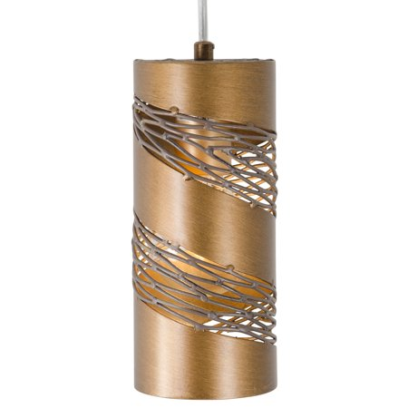 1 Light Cylinder Mini (Varaluz - Flow - 1 Light Cylinder Mini Pendant - Hammered Ore)