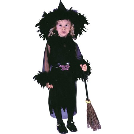 Morris Costumes Childrens Toddlers Fairies & Angels Feathery Witch 3T-4T, Style FW1503