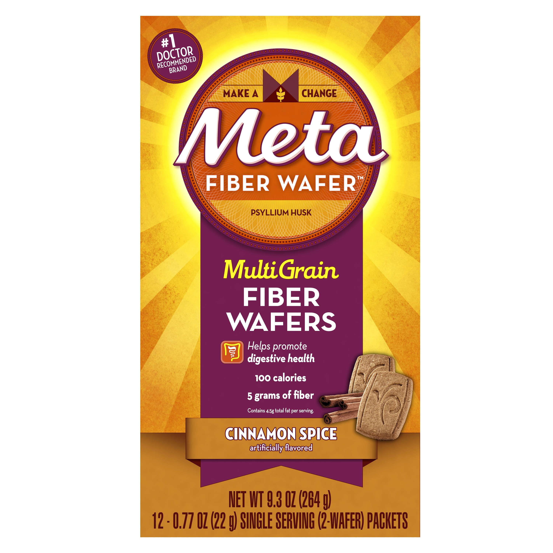 Meta Multi Grain Fiber Wafers Cinnamon Spice 12 Count
