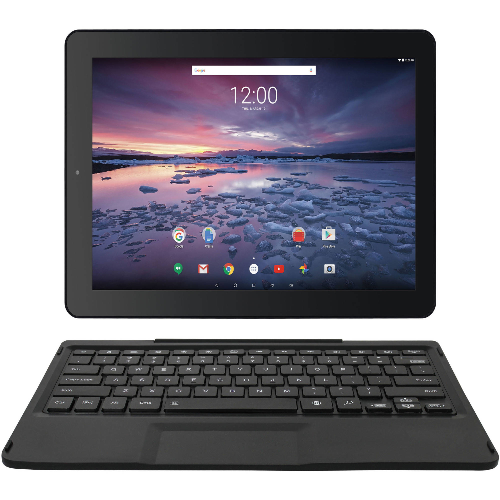 """Pro12 with WiFi 12.2"""" Touchscreen Tablet PC Featuring Android 6.0 (Marshmallow) Operating System, Black"""