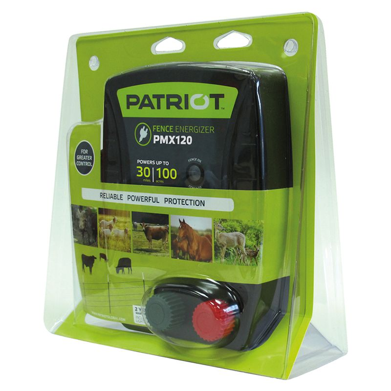 Patriot PMX120 Electric Fence Charger Energizer1.2 Joule 30 Mile 100 Acre