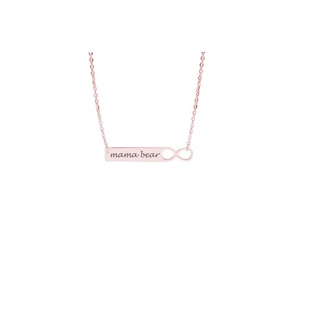 Infinity Bar Necklace Mama Bear