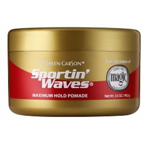Sportin' Waves by Magic Shave, Maximum Hold 3.5 oz (Pack of 2)