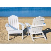 LuXeo Marina White Poly Outdoor Adirondack Chair (2 Pack)
