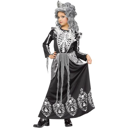 Fun World Skeleton Queen Halloween - Family Skeleton Costumes