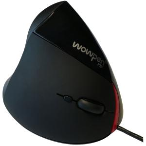 WOW PEN JOY II WIRED VERTICAL ERGONOMIC OPTICAL MOUSE BLACK