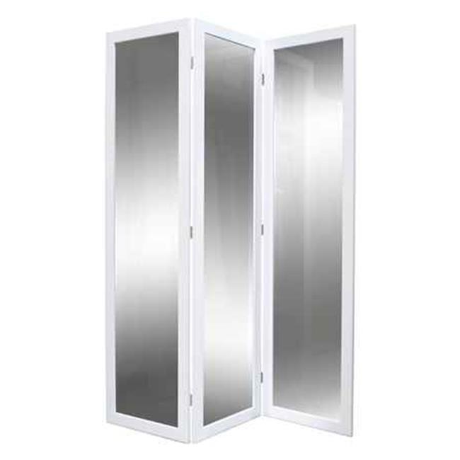 Screen Gems SG-202 Mirror Room Divider, White