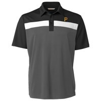Pittsburgh Pirates Cutter & Buck Chambers Polo - Black/Gray