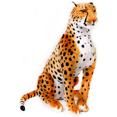 Cecil the Cheetah | 2 1/2 ft Tall Big Stuffed Animal Plush Leopard (4.5 ft long!) | Shipping from Texas | By Tiger Tale Toys