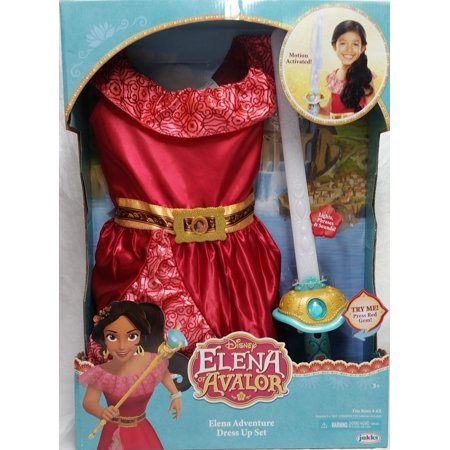 Disney Elena of Avalor - Elena Adventure Dress Up Set, Sizes - Dress Up As A Disney Character